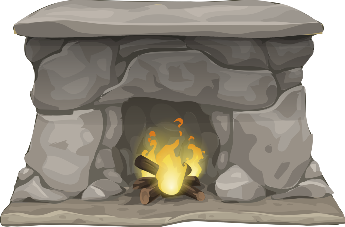 Chimney clipart indoor. Fireplace hearth flame heat