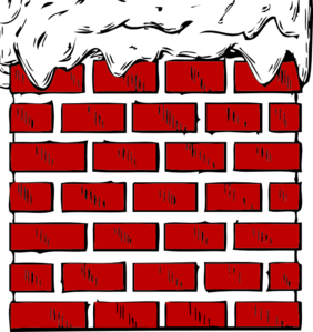 Chimney clipart snowy. With snow clip art