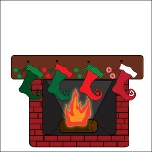 Chimney clipart stocking clipart. Clip art christmas fireplaces
