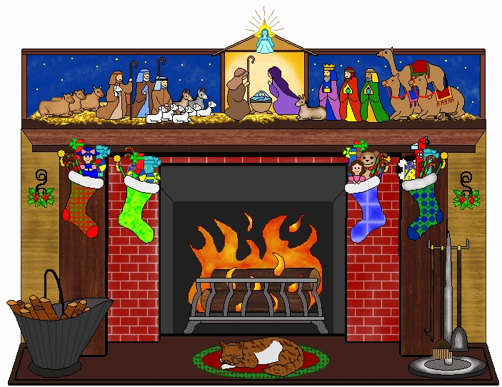 Chimney clipart stocking clipart. Fireplace free pencil and