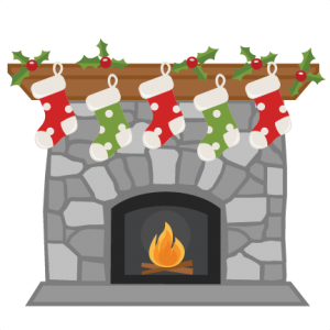 Chimney clipart stocking clipart. Christmas fireplace miss kate