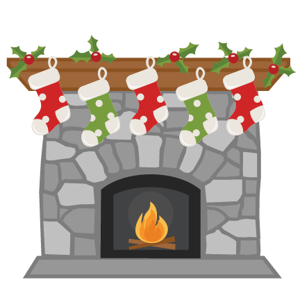 Chimney clipart transparent. Christmas fireplace svg my
