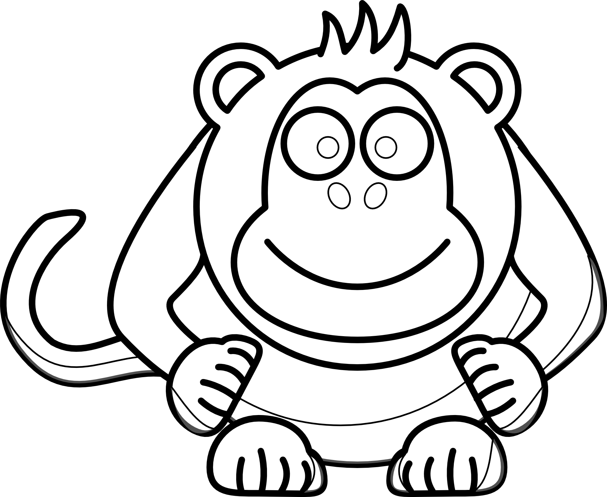 Chimp drawing simple. Monkey face at getdrawings