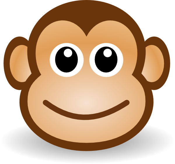 Chin drawing cute. Simple monkey face at