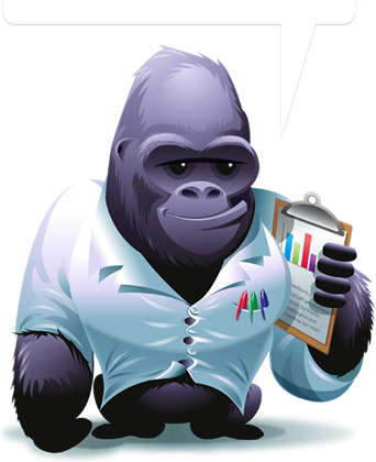 Vector gorilla character. What drawing style are