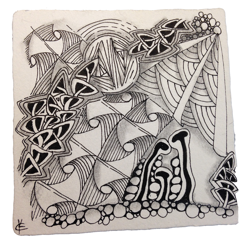 Drawing raindrops zentangle. My story