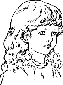 Chin clipart black and white. Free girl cliparts download