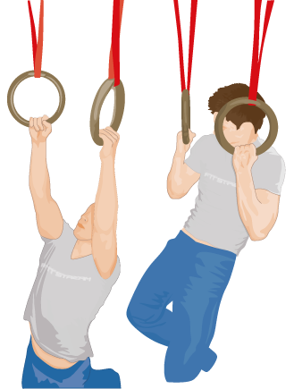 Chin clipart chin up. Pull ups on gym
