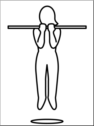 Chin clipart chin up. Clip art simple exercise