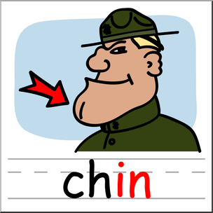 Basic words in phonics. Chin clipart clip art svg library