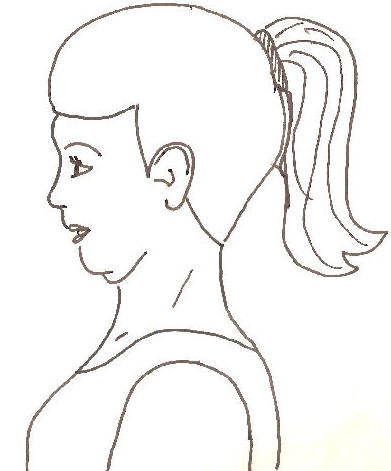 Treating neck pain with. Chin clipart double chin clip black and white download