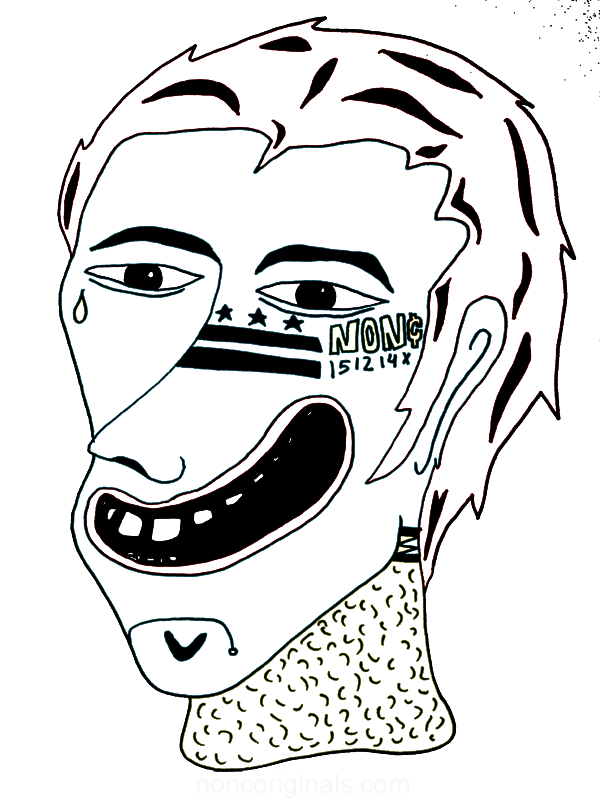 Non antsy neck. Chin drawing black and white clipart freeuse