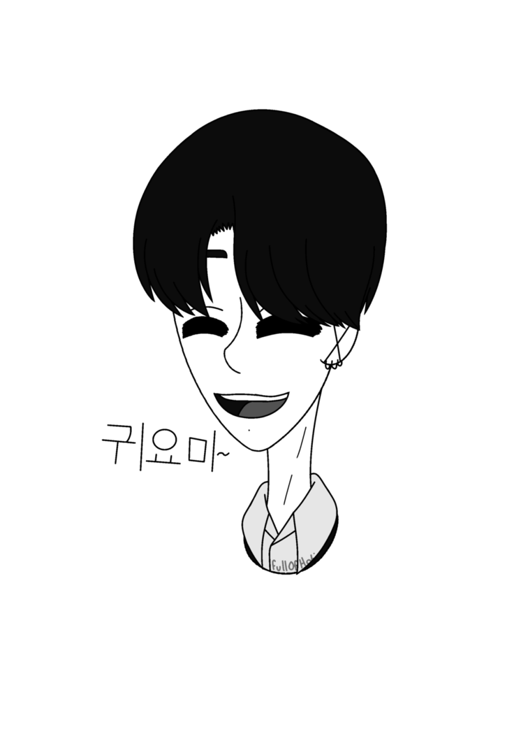 Jungkook by fullofhobi on. Chin drawing black and white clip royalty free stock