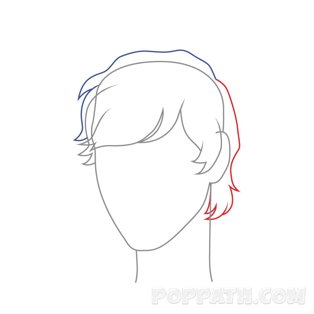 Drawing guys nose. Male hair at getdrawings