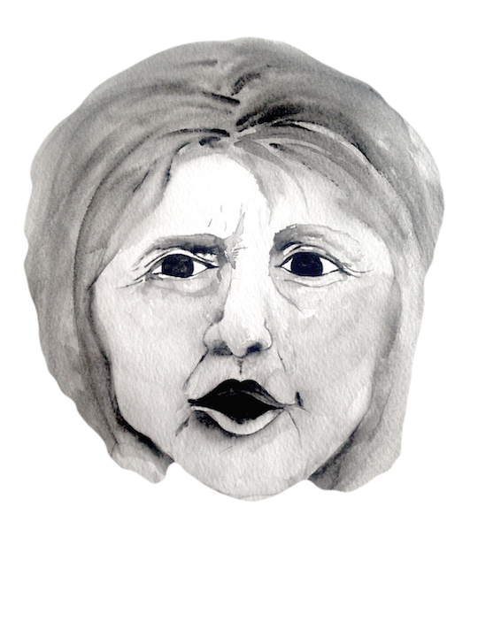 Chin drawing double. Cartoon your politics click