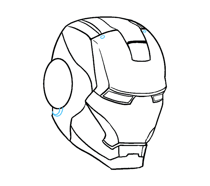 Chin drawing easy. How to draw iron