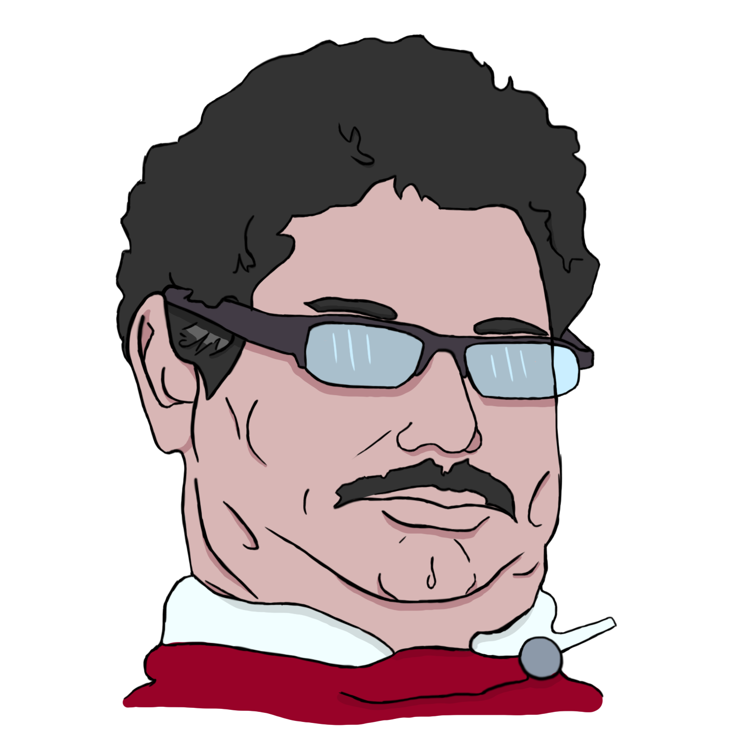 Chin drawing papa. Got my first tablet