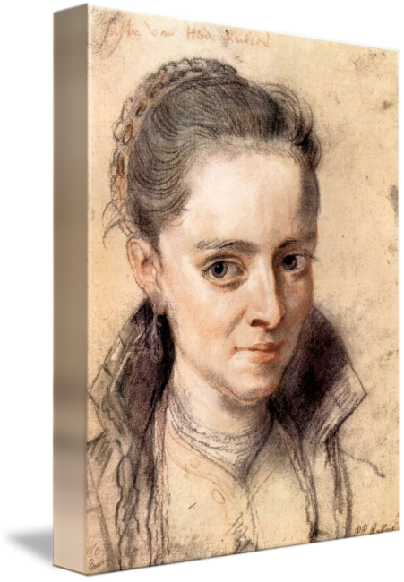 Chin drawing peter. Portrait of susanna fourment