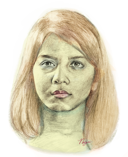 Chin drawing realistic. Page of women who png freeuse download