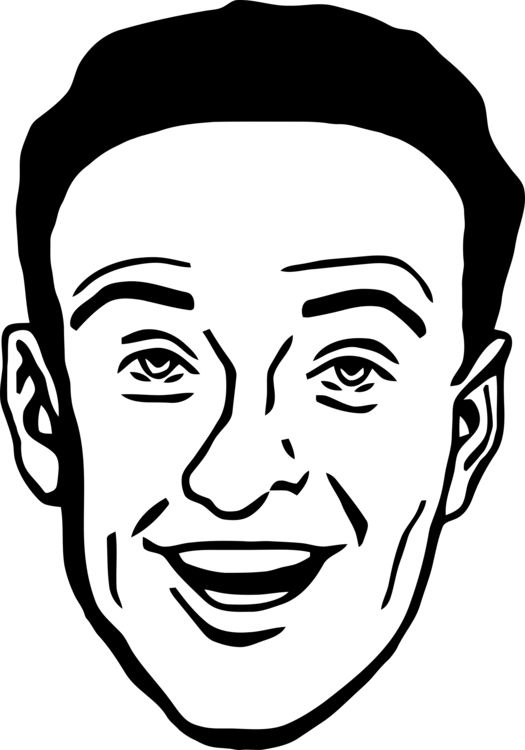 American drawing face. Smiley man free commercial