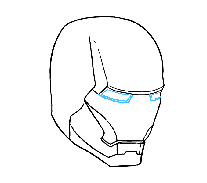 Chin drawing step by. How to draw iron