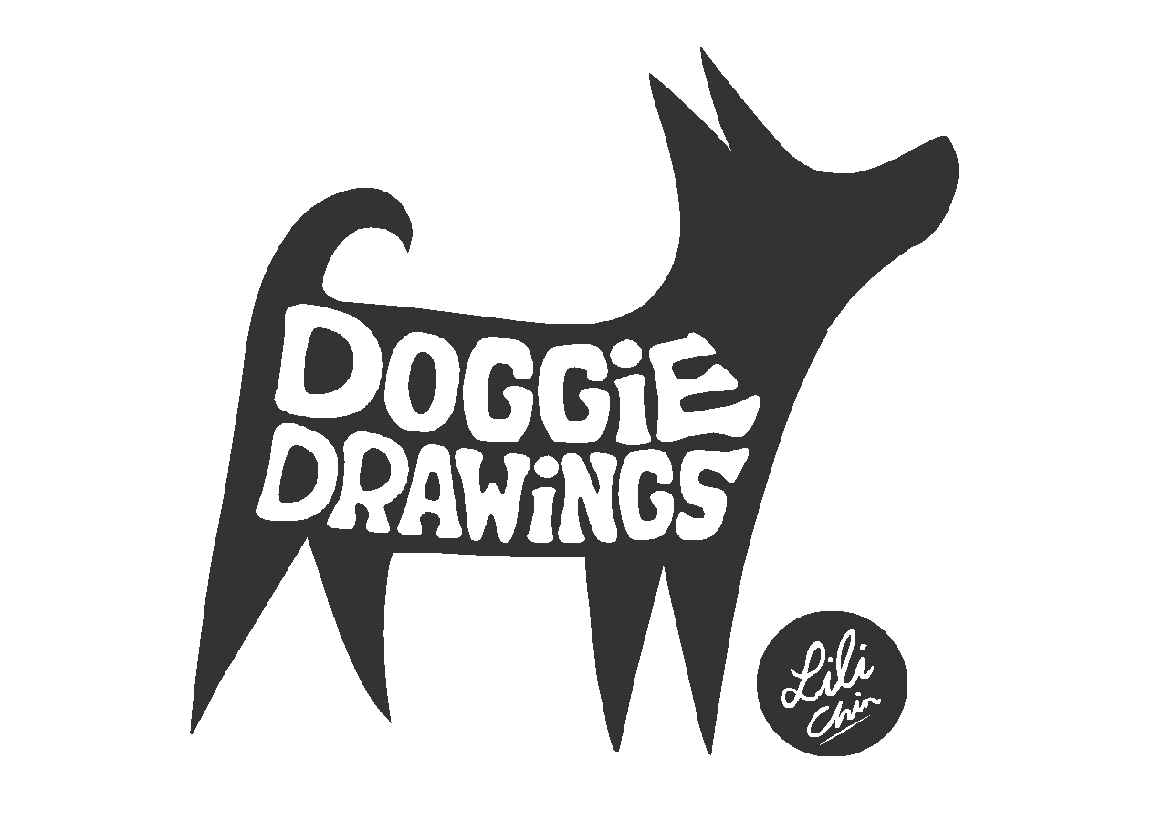 Design illustration los angeles. Doggy drawing clip freeuse stock