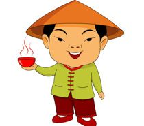 Man in treditional standing. Chinese clipart costume chinese graphic black and white stock