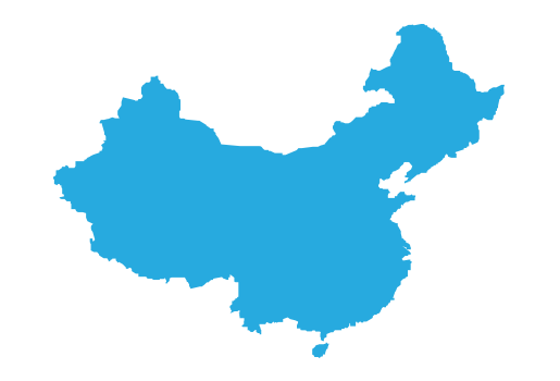china transparent map