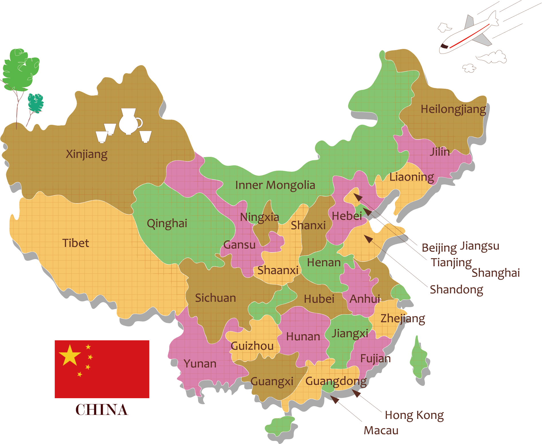 China map png. Vector transprent free download