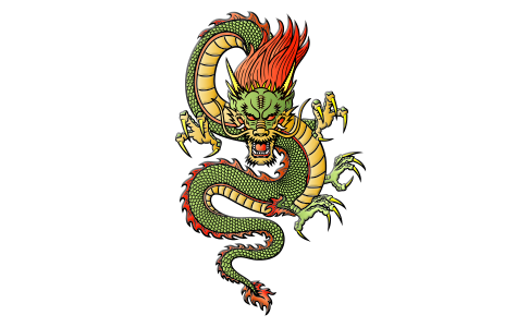 China transparent dragon. Chinese fortune by horoscope