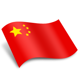 China transparent flag. Png images all free