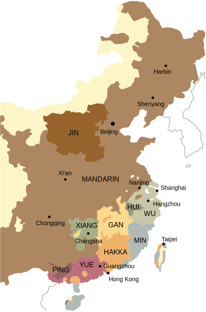 China transparent geography. Primary branches of chinese