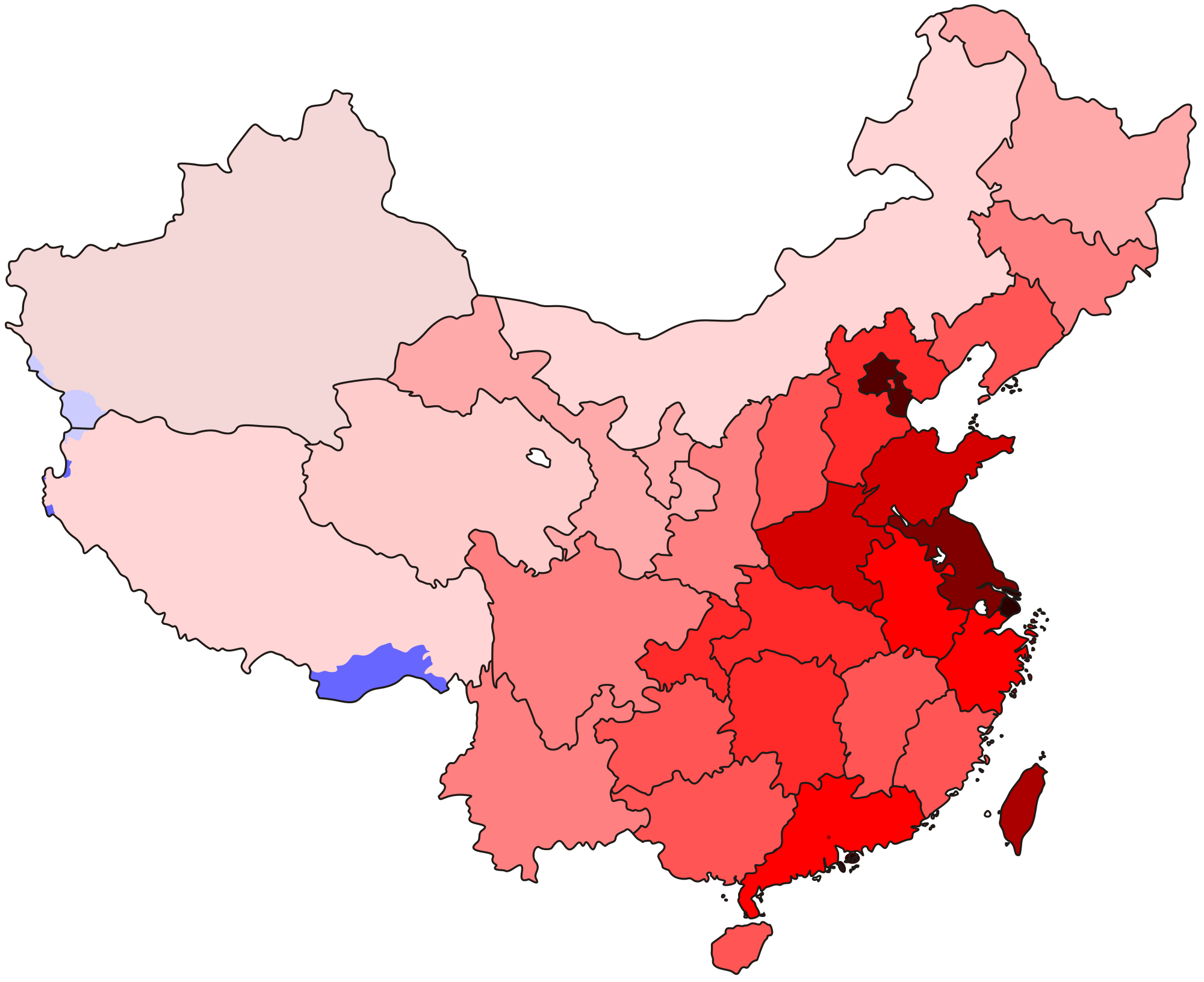 China transparent geography. Of wikipedia a population