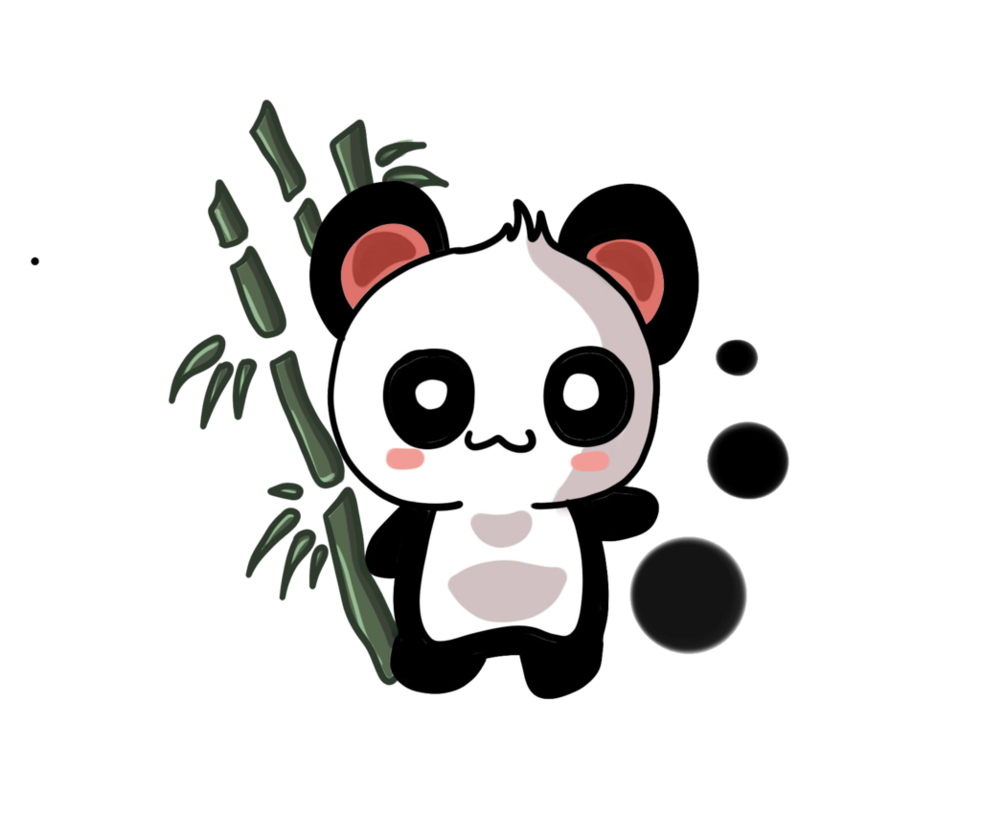 China transparent panda. Chinese course words flashcards