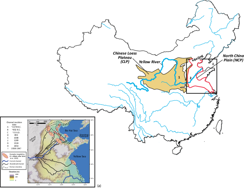 China transparent plain. Map of showing locations