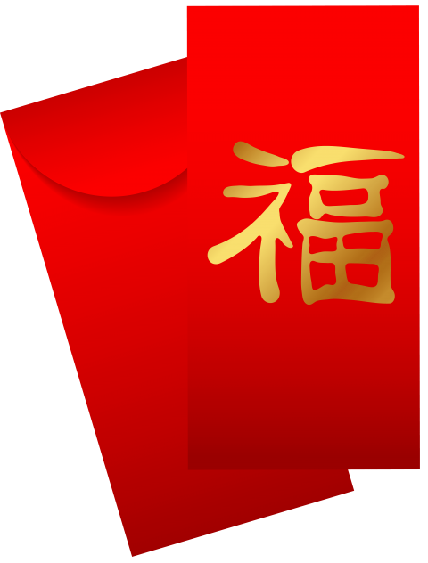 Envelope transparent red. Chinese png free images