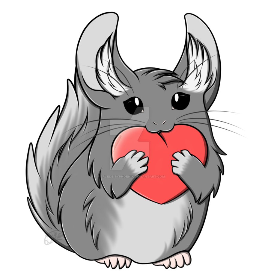 Chinchilla footprint png. Commission rescue logo by