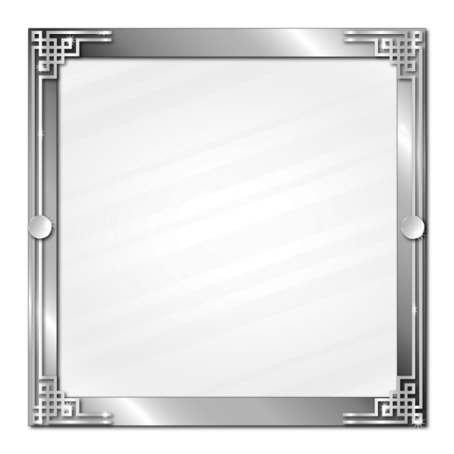 Metallic vector ribbon. Chinese style silver frame
