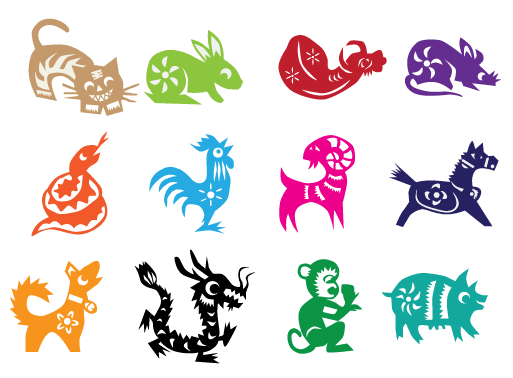 Ms feng shui zodiac. Chinese clipart animal chinese svg transparent stock