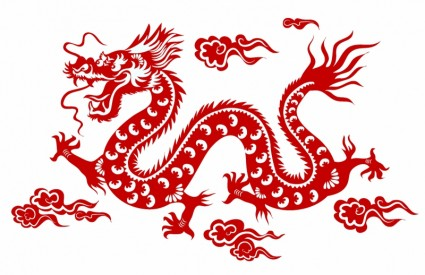 Chinese clipart dragon. Free