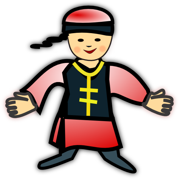 Chinese clipart icon. Boy clip art at