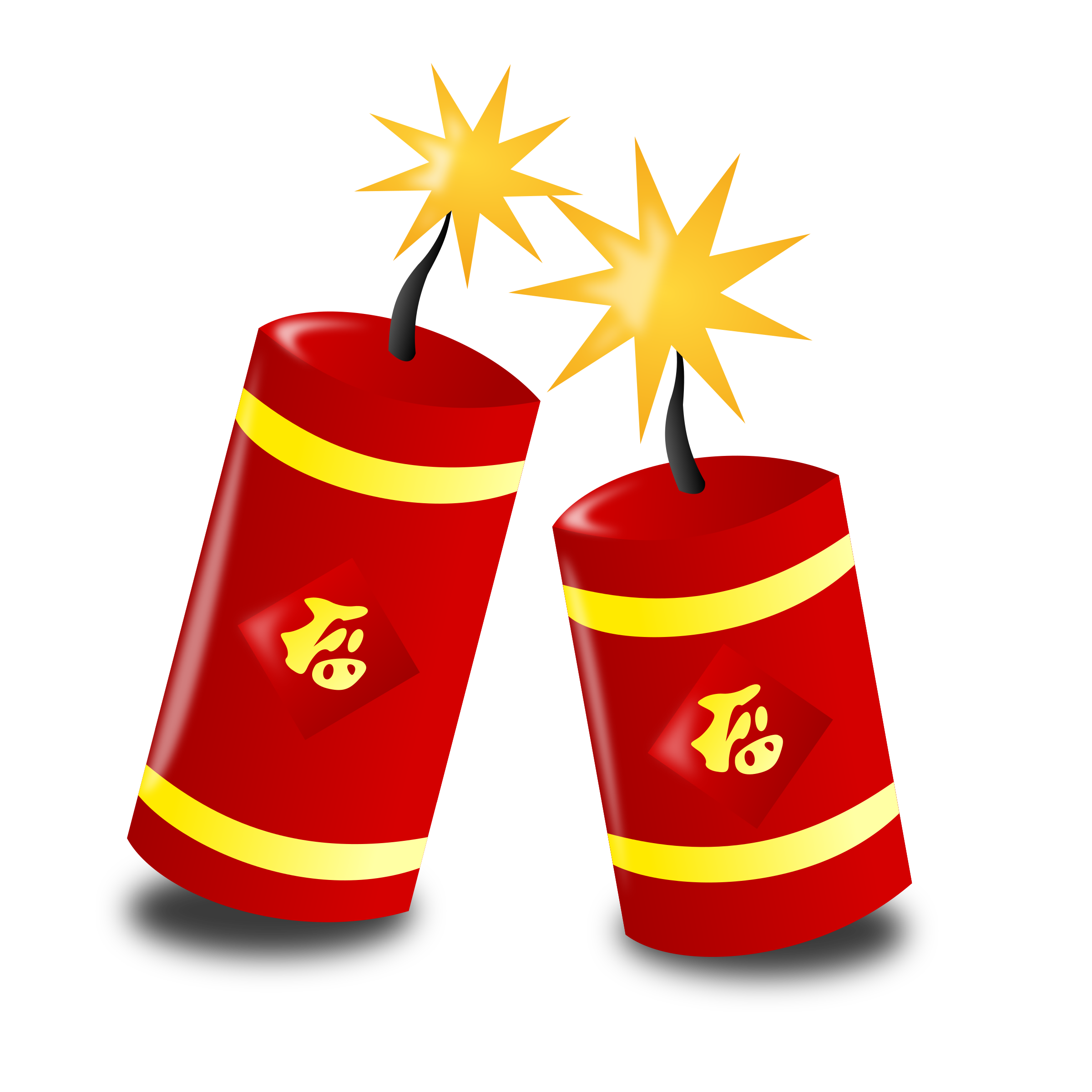 Firecracker vector bomb. Clipart chinese new year