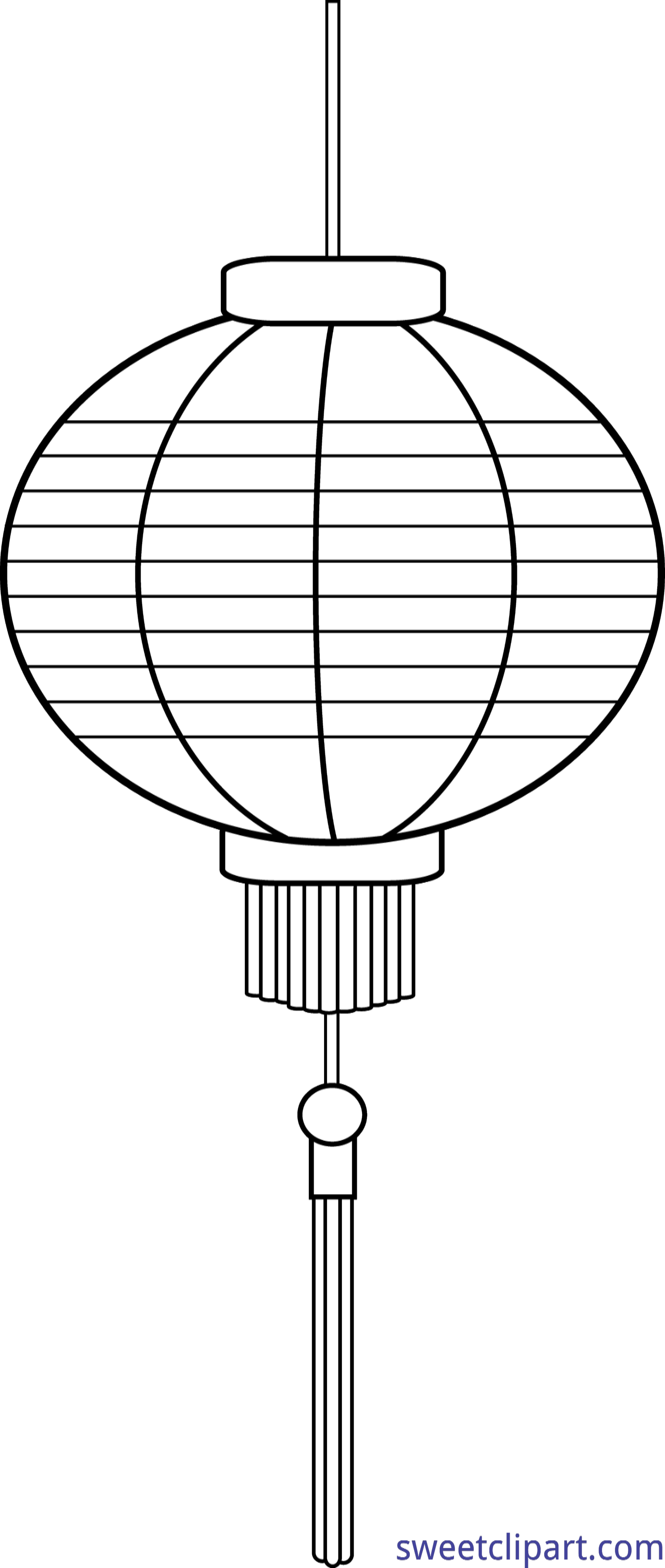 Chinese clipart lamp chinese. Lantern lineart clip art
