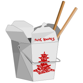 Chinese clipart takeout chinese. Take out box wall