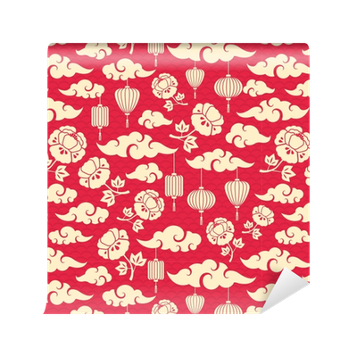 Chinese clouds png. Seamless pattern with wallpaper