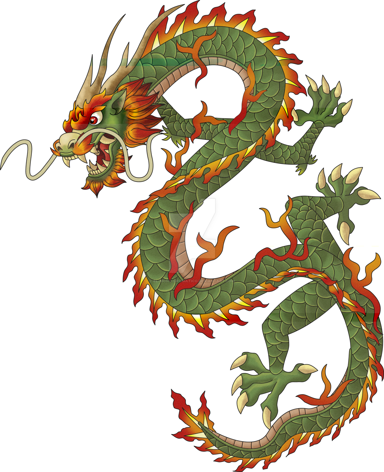 Chinese dragon png. Transparent images all clipart