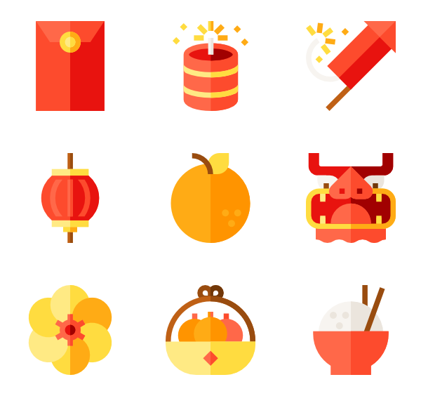 Ai vector chinese new year. Dragon icon packs