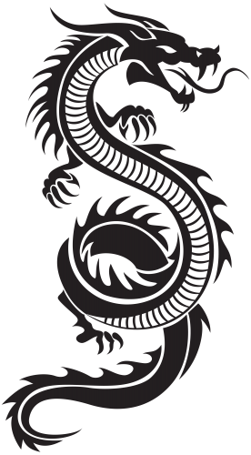 Chinese dragon vector png. Silhouette clip art icon