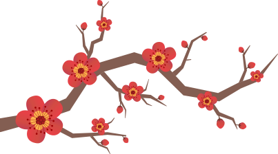 Chinese flower png. Cny image
