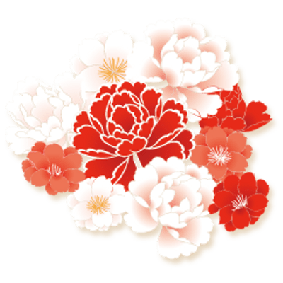 Chinese flowers png. New year transparent images